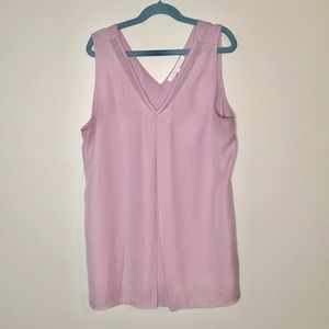 Violet + Claire Lilac Sleeveless Flowy Blouse